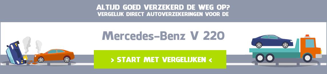 autoverzekering Mercedes-Benz V 220