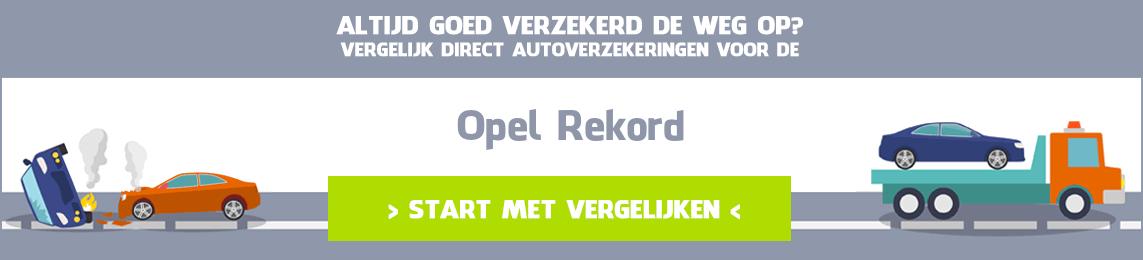 autoverzekering Opel Rekord